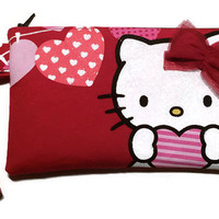 Hello Kitty Bag Upcycled Clutch