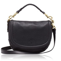 Mulberry - Small Effie Satchel in Black Spongy Pebbled