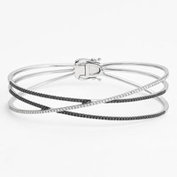 Women's Bony Levy Crossover Three-Row Diamond Bangle Bracelet (Limited Edition) (Nordstrom Online Exclusive)