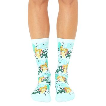 Jungle Cheetah Crew Socks