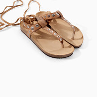 LEATHER BIO SANDAL WITH THIN STRAPS