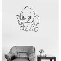 Vinyl Decal Baby Elephant Cute Animal Children Room Wall Sticker Unique Gift (ig232)