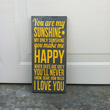 You Are My Sunshine 8x12 Wood Sign