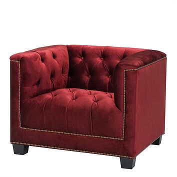 Essex Red Chesterfield Chair | Eichholtz Paolo