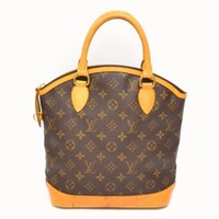 Authentic Louis Vuitton Monogram Canvas Hand Bag Tote Lockit Brown France Ladies
