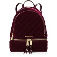 Michael Michael Kors Rhea Medium Velvet Zip Backpack