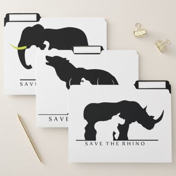 Save the Animals File Folder