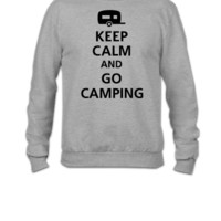 keep calm and go camping - Crewneck Sweatshirt