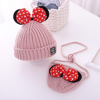 Female Baby Hat Winter Cute Super Cute Bow Girl Woolen Hat Baby Autumn And Winter Children's Hat