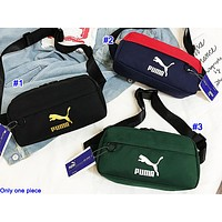PUMA hot fashion patchwork canvas lady casual cross chest bag