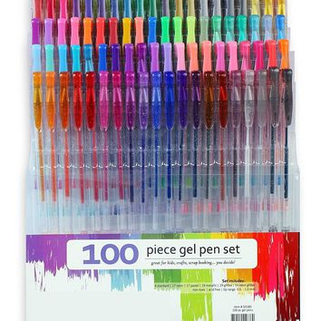 100PC Gel Pen Set For Adult Coloring Books & More