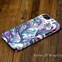 Peacock Feather Design 3D-Wrap iPhone 5S Case iPhone 5 Case iPhone 5C Case iPhone 4S Case iPhone 4 Case iPhone 6 Rubber Case