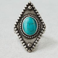 AEO Women's Turquoise Stone Ring (Silver)