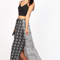 Mandala Split Maxi Skirt