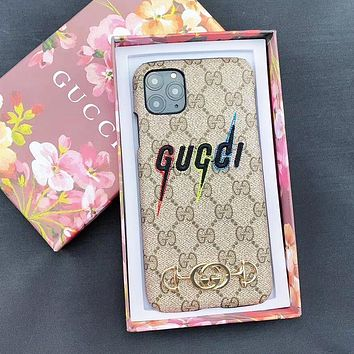 GUCCI Fashionable Men Women Embroidery Phone Cover Case For iphone 6 6s 7 7plus iPhone X XR XS XS MAX IPhone 11 11pro 11 Pro Max