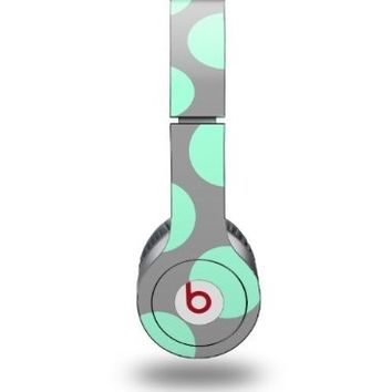 Kearas Polka Dots Mint And Gray Decal Style Skin fits Beats Solo HD Headphones - (HEADPHONES NOT INCLUDED)