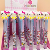 2 pcs/lot Hello Kitty Cartoon 3 Colors Chunky Ballpoint Pen School Office Supply Gift Stationery Papelaria Escolar
