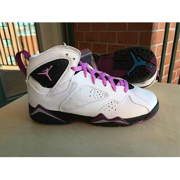 Air Jordan 7 Retro Fushia Glow GS WHITE