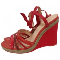 Open toed wedges COLE HAAN Red