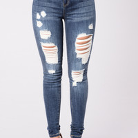 Remember Last Night Jeans - Dark Stone Wash