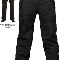 686 Authentic Smarty Cargo Snowboard Pant - Tall - Black