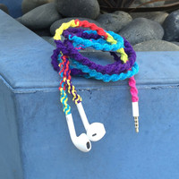 Retro Remix DEUX MyBudsBuzz Wrapped Headphones Tangle Free Earbuds Your Choice of Headphones