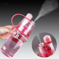 400ml Creative Water Spray Cup Cool Beauty Sports Canteen Riding A Spray Bottle Space Cup Resistant Nutrition Custom Bottle