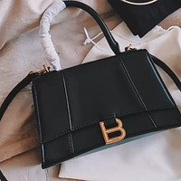 Balenciaga simple retro hipster hourglass bag shoulder bag crossbody bag