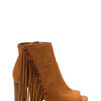 Fringe Watch Faux Suede Booties
