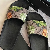 LV Louis vuitton G GG printed pattern letters men's and women's slippers shoes #5