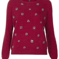 Knitted Embellished Jumper - Knitwear - Clothing - Topshop USA