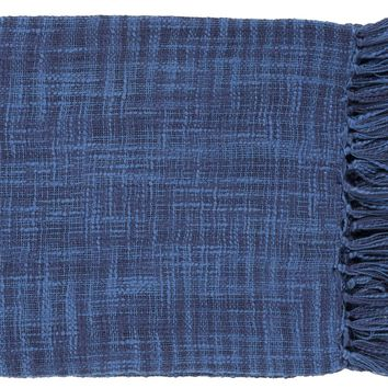 Tori Traditional Woven Throw - Blue