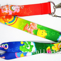 Vibrant Care Bear  neck lanyard for children Lots Free Shipping