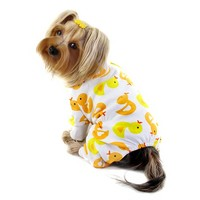 Knit Cotton Pajamas with Yellow Ducky