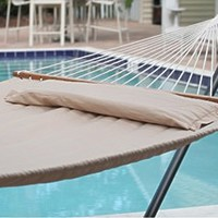 Hammock Quilted Fabric Double Spreader Bar Button Pillow Hammock Stylish Design