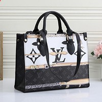 Louis Vuitton LV hot sale ladies large-capacity simple all-match tote bag