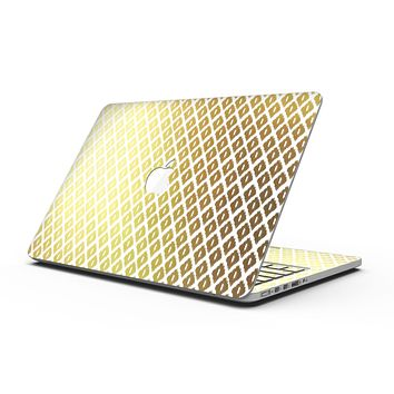 The Gold and White Marked Diamond Pattern - MacBook Pro with Retina Display Full-Coverage Skin Kit