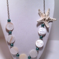 Shell Teal Necklace