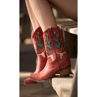 Junk Gypsy by Lane Bramble Rose Boot~Red