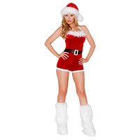 Sexy Winter Flurries Furry Holiday Romper