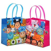 Disney Tsum Tsum Small Reusable Party Favors Goodie Gift Bags ( 12 Bags)