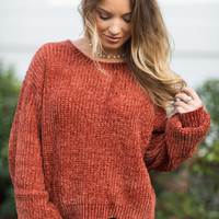 Our Time Sweater, Brick