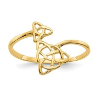 14K Yellow Gold Polished Celtic Knot Ring