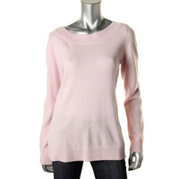 Magaschoni Womens Cashmere Fly-Away Pullover Sweater