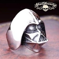 """""""Darth Vader"""" Stainless Steel Ring (588)"""