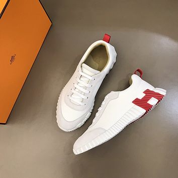 HERMES2021 Men Fashion Boots fashionable Casual leather Breathable Sneakers Running Shoes09300cx