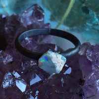 Raw Opal Ring Size 7.5
