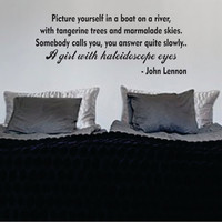 Picture Yourself in a Boat John Lennon The Beatles Quote Design Sports Decal Sticker Wall Vinyl