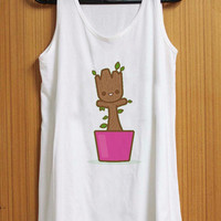 baby groot dancing tank top for womens and mens heppy feed