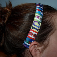 One Direction Headband Ribbon Matches The Entrance to 1 D World in NYC...  No Slip and Great for Sports, Dance and any Active Girl